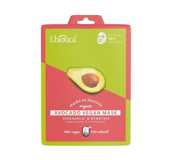 Avocado Vegan BIO Sheet  Mask L'biotica