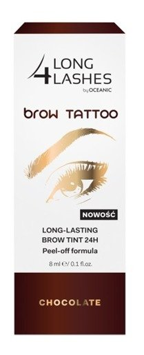 LONG 4 LASHES  Brow Tattoo Choclate Peel off tint