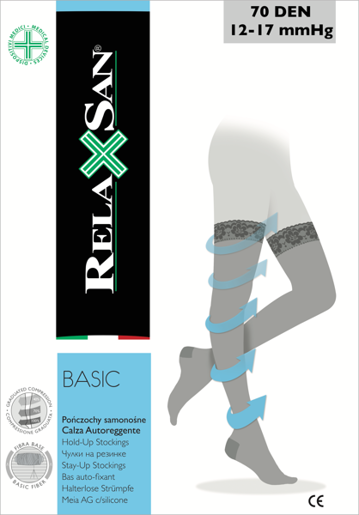 Relaxsan Compression HOLD UPS Stockings 70 den 12-17 mmHg